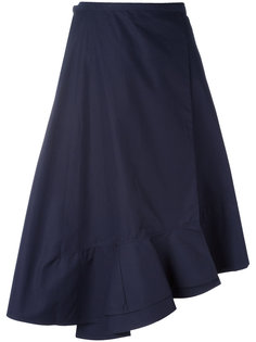 юбка с асимметричным подолом Céline