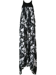 tie dye maxi dress Victor Alfaro