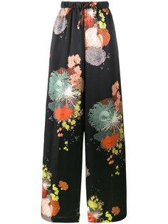 широкие брюки с цветочным принтом Dries Van Noten