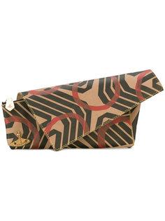 асимметричный клатч с геометрическим принтом Vivienne Westwood