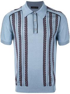футболка-поло вязки-интарсия Prada