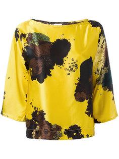 блузка с пятнистым принтом Dries Van Noten