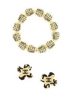 набор из браслета и серег Lucky Chanel Vintage