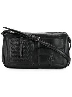 сумка на плечо с плетеной вставкой Bottega Veneta