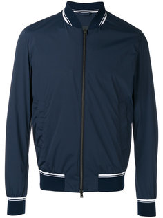 куртка-бомбер  с контрастной окантовкой Herno