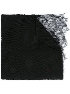 шарф с кружевной отделкой Valentino