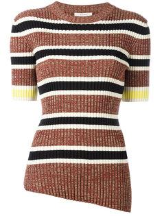 asymmetric ribbed knit top  Céline