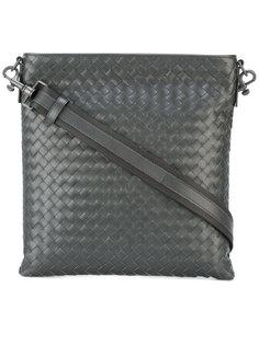 кожаная плетеная сумка на плечо Bottega Veneta