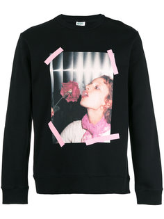 Girl with Rose sweatshirt Kenzo