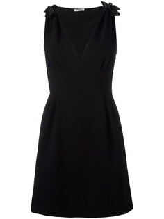 платье с V-образным вырезом Miu Miu
