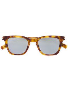 солнцезащитные очки с эффектом черепашьего панциря Saint Laurent