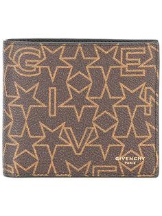 кошелек с фирменным звездным принтом  Givenchy