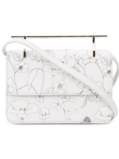 floral print shoulder bag  M2malletier