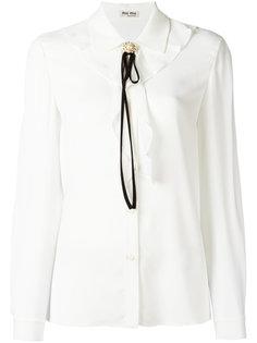 блузка с завязками Miu Miu