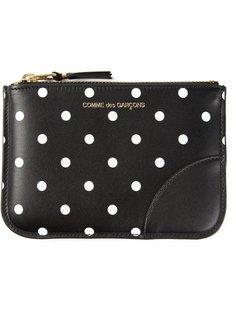 Polka Dots Printed zip purse Comme Des Garçons Wallet