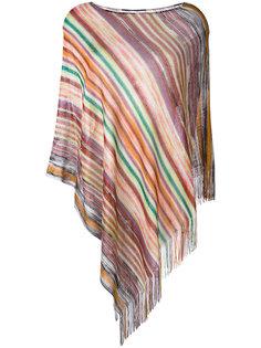 вязаное полосатое пончо Missoni