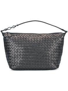металлизированная плетеная сумка Bottega Veneta