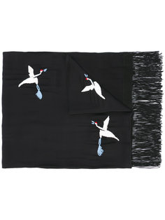 embroidered bird scarf The Kooples