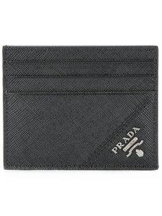 кошелек для карт с фирменной бляшкой Prada