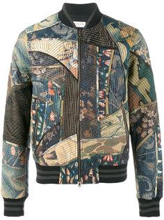 куртка-бомбер в стиле пэчворк  Dries Van Noten