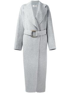 длинное пальто с поясом Acne Studios