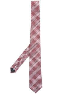 галстук с простроченный узором в клетку Cerruti 1881