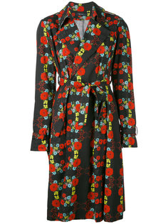 floral pattern trench coat Area Di Barbara Bologna