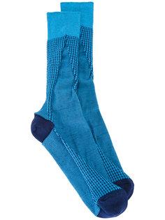 houndstooth pattern socks Issey Miyake Men