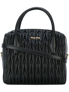 стеганая сумка-тоут Miu Miu