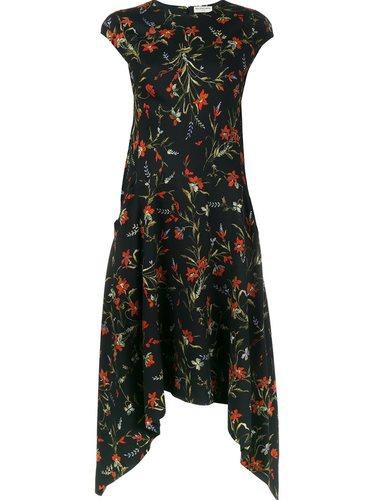 платье с цветочным принтом   Balenciaga