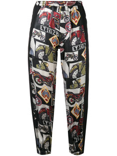printed cropped trousers  Hache