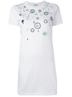платье с аппликацией Miu Miu