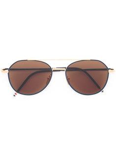 солнцезащитные очки с коричневыми линзами Thom Browne