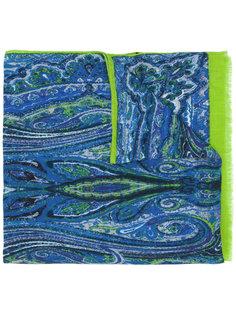 шарф с бахромой и принтом Etro