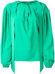 блузка с ремешками  Balenciaga