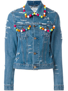 pompom denim jacket Forte Couture
