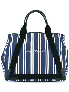 полосатая сумка-тоут Balenciaga