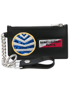 кошелек с нашивками Saint Laurent