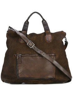 leather-trimmed bag Numero 10