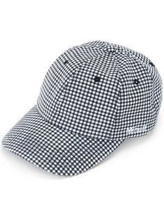 logo embroidered gingham cap Futur