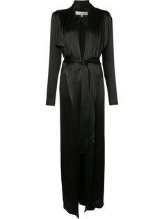 tie-waist silk jacket Galvan