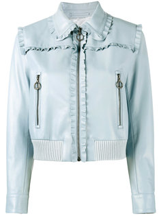 куртка с оборчатой отделкой Miu Miu