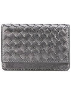 плетеный кожаный кошелек Bottega Veneta