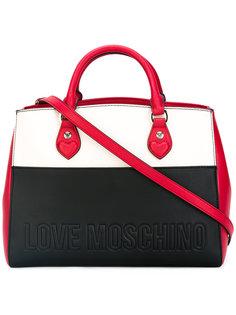 сумка-тоут дизайна колор-блок Love Moschino