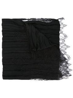 плиссированный шарф с кружевной отделкой Valentino