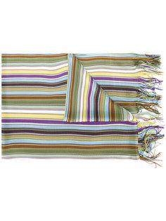 полосатый шарф с бахромой Missoni