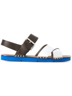 сандалии с застежкой на пряжку Prada