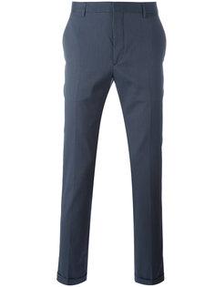 узкие брюки с отворотами Prada