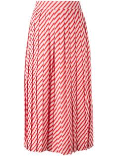 полосатые плиссированные шорты Céline