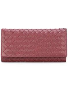 континентальный кошелек с плетеным узором Bottega Veneta